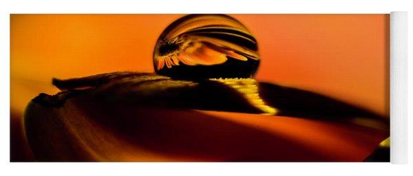 Water Drop On Orange Yoga Mat