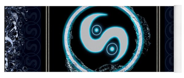 Yoga Mat featuring the digital art Water Emblem Sigil by Shawn Dall