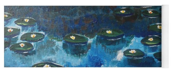 Yoga Mat featuring the painting Water Lillies by Jimmy Clark