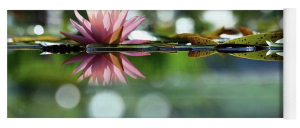 Water Lily And Bokeh Yoga Mat