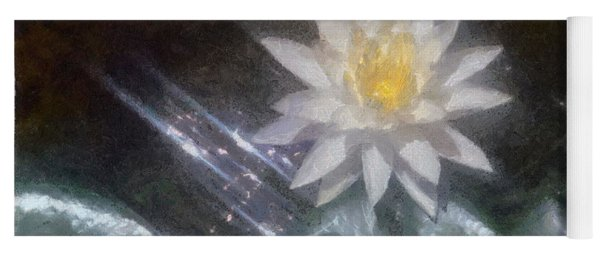 Water Lily In Sunlight Yoga Mat