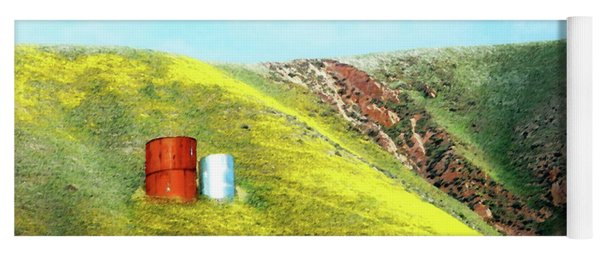 Water Tanks And Wildflowers Yoga Mat