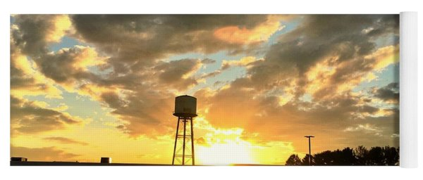 Water Tower At Sunset Yoga Mat