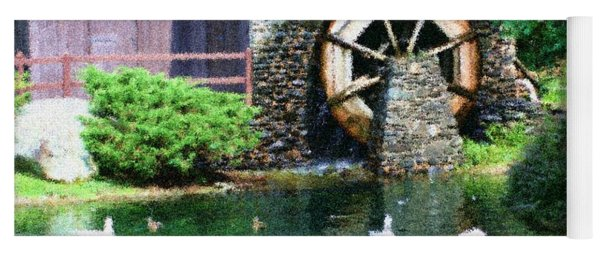 Water Wheel Duck Pond Yoga Mat