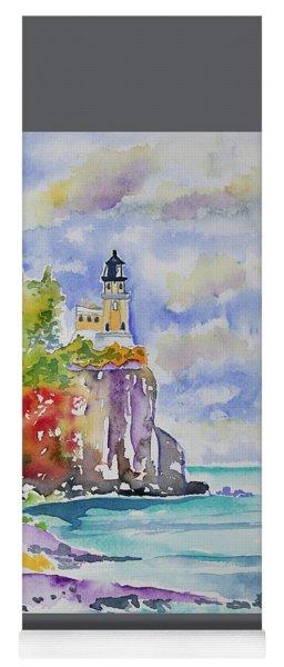 Watercolor - Autumn At Split Rock Lighthouse Yoga Mat