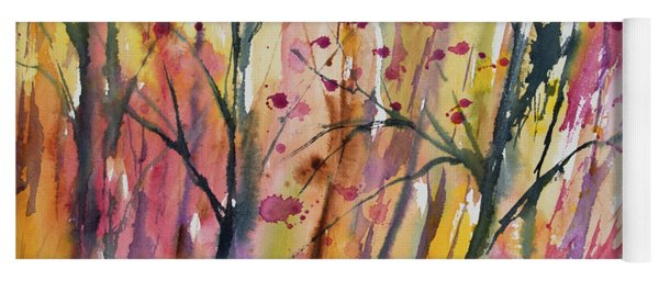 Watercolor - Autumn Forest Impression Yoga Mat