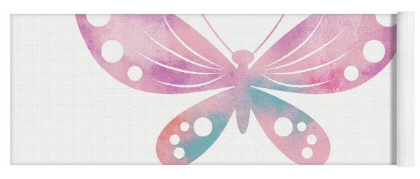 Watercolor Butterfly 1- Art By Linda Woods Yoga Mat