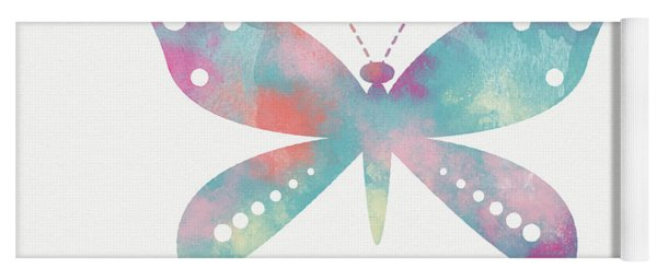 Watercolor Butterfly 3-art By Linda Woods Yoga Mat
