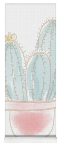Watercolor Cactus- Art By Linda Woods Yoga Mat