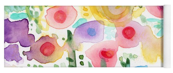 Watercolor Flower Garden- Art By Linda Woods Yoga Mat