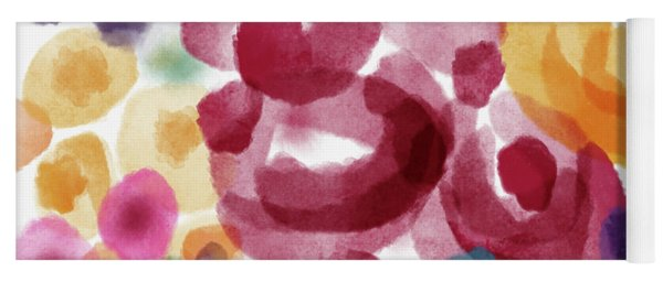 Watercolor Garden Flowers- Art By Linda Woods Yoga Mat