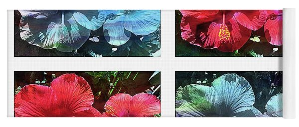 Watercolor Hibiscus By Four Yoga Mat