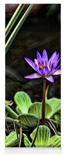 Watercolor Lily Yoga Mat