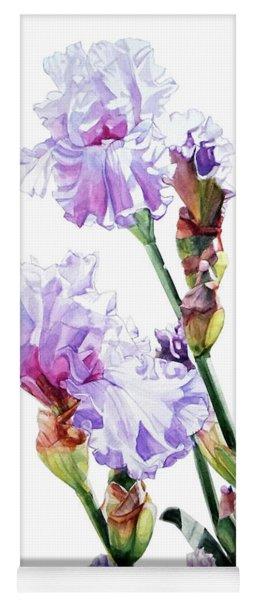 Watercolor Of A Tall Bearded Iris I Call Lilac Iris Wendi Yoga Mat
