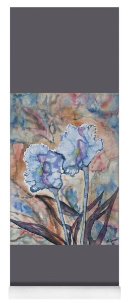 Yoga Mat featuring the painting Watercolor - Orchid Impression by Cascade Colors