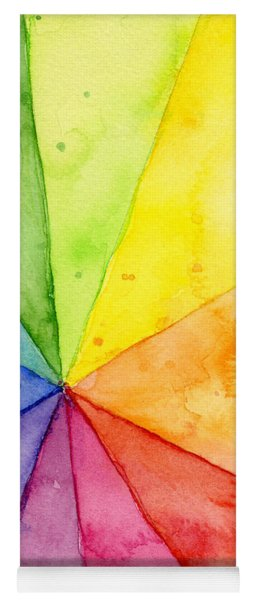 Watercolor Rainbow Beachball Pattern Yoga Mat