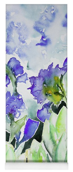 Watercolor - Rocky Mountain Wildflowers Yoga Mat