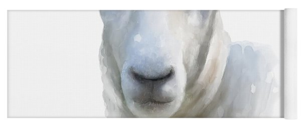 Watercolor Sheep Yoga Mat