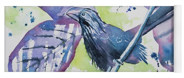 Watercolor - Smooth-billed Ani Yoga Mat