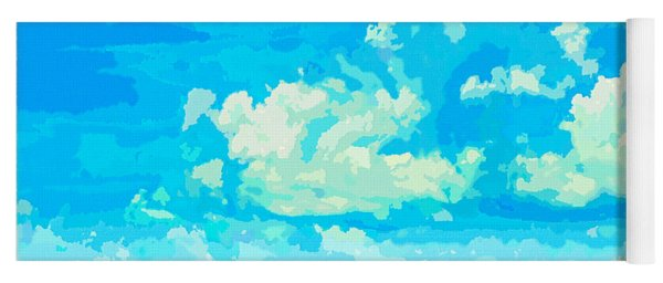 Watercolor Spring On Sarasota Bay Yoga Mat