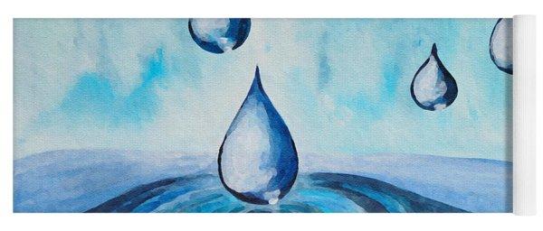 Waterdrops Yoga Mat