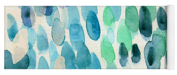 Waterfall 2- Abstract Art By Linda Woods Yoga Mat