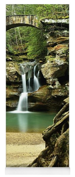 Waterfall And Roots Yoga Mat
