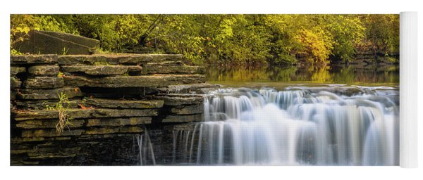 Yoga Mat featuring the photograph Waterfall Glen, Lemont, Il by Adam Romanowicz