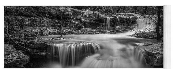 Yoga Mat featuring the photograph Waterfall In Austin Texas - Square by Todd Aaron