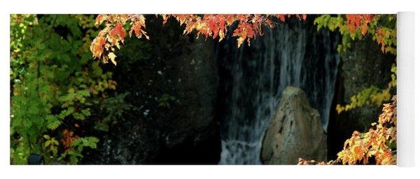 Waterfall In The Garden Yoga Mat