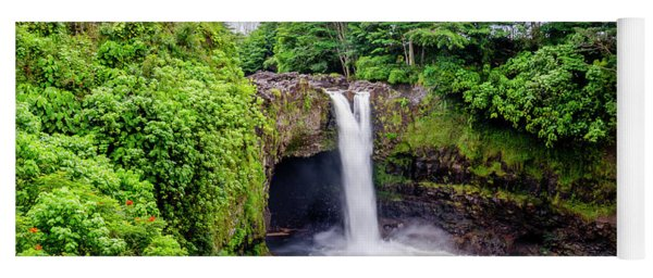 Waterfall Into The Valley Yoga Mat