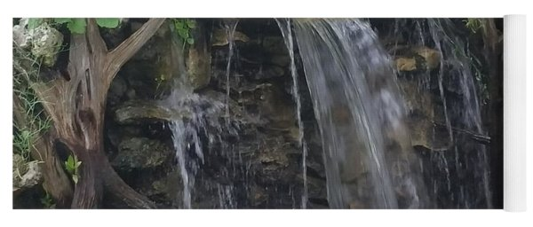 Yoga Mat featuring the photograph Waterfall Serenity by Jimmy Clark