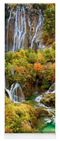 Waterfalls In Plitvice Lakes National Park Yoga Mat