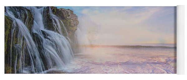 Waterfalls Into The Ocean Yoga Mat