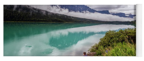 Waterfowl Lake Banff Alberta Canada Yoga Mat
