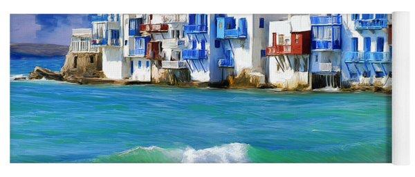 Waterfront At Mykonos Yoga Mat