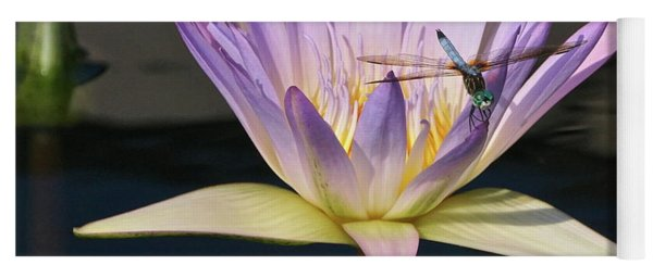 Waterlily And Dragonfly Yoga Mat