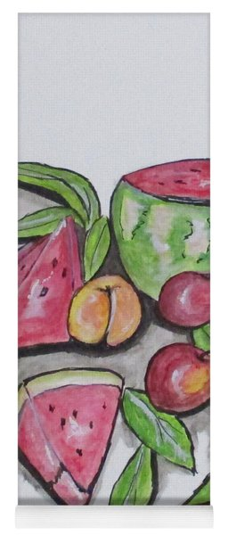 Watermelons And Apples Yoga Mat