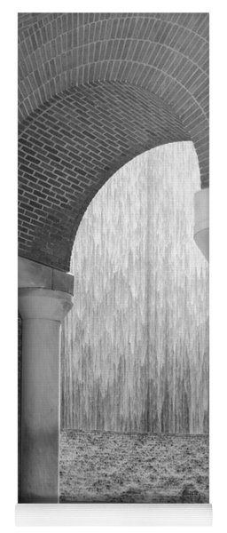 Waterwall And Arch 3 In Black And White Yoga Mat