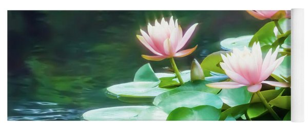 I Dream Of Water Lilies Yoga Mat