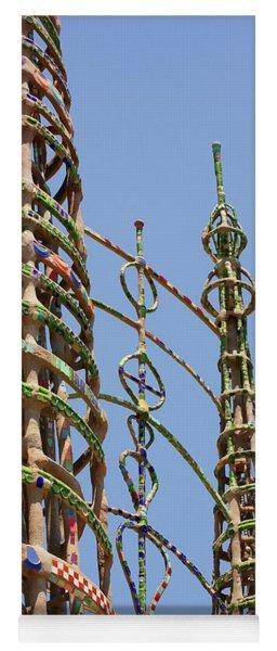 Watts Towers Yoga Mat