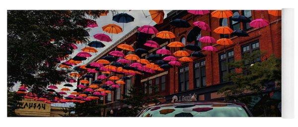 Wausau's Downtown Umbrellas Yoga Mat