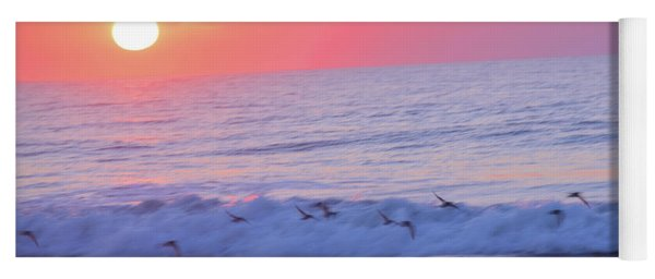 Wave Of Gratitude Nature Art Yoga Mat