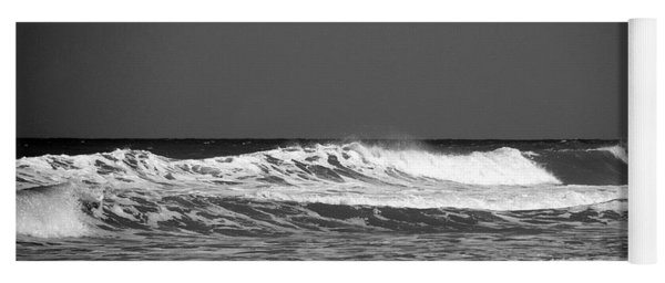 Waves 2 In Bw Yoga Mat