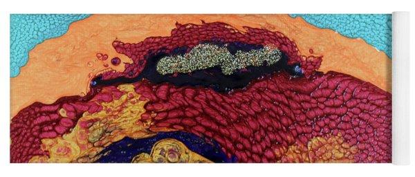 Yoga Mat featuring the painting Waves Of Debbie by Deborah Boyd