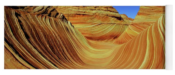 Waves Of Sandstone Yoga Mat