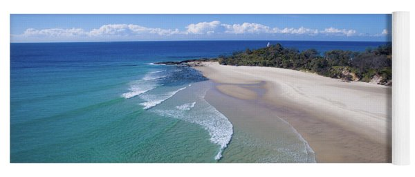 Waves Rolling In To North Point Beach On Moreton Island Yoga Mat