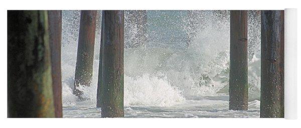 Waves Under The Pier Yoga Mat