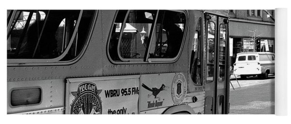 Wbru-fm Bus Sign, 1975 Yoga Mat