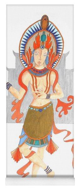 We Are All Goddesses -- Portrait Of Hindu Goddess Yoga Mat